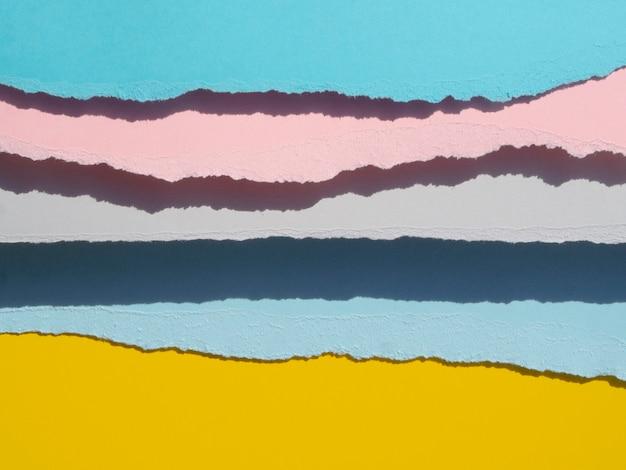 Mezcla de colores cálidos y fríos resumen de papel