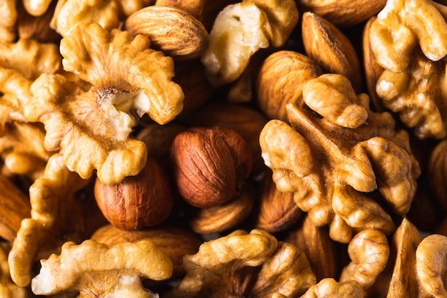 Mezcla de delicioso snack saludable