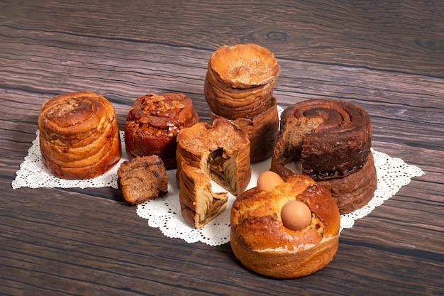 Mezcla de pasteles folar portugueses