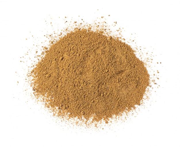 Mezcla de polvo garam masala con especias y hierbas mezcladas