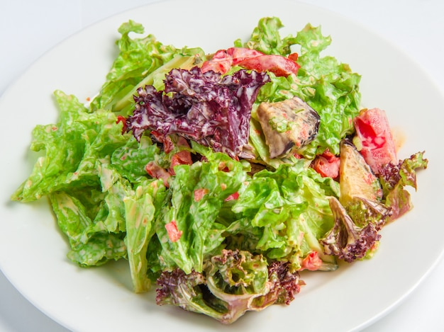 Mezcla de verduras con berenjenas