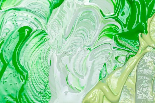 Mezcla de vista superior de tonos verdes