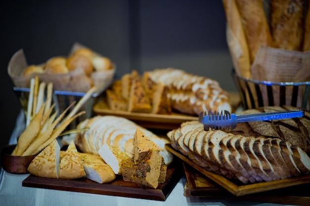 Mezclar pan, postre de repostería, comida