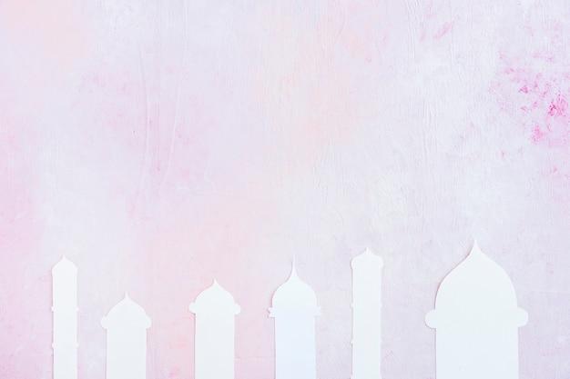 Mezquita silueta recortada
