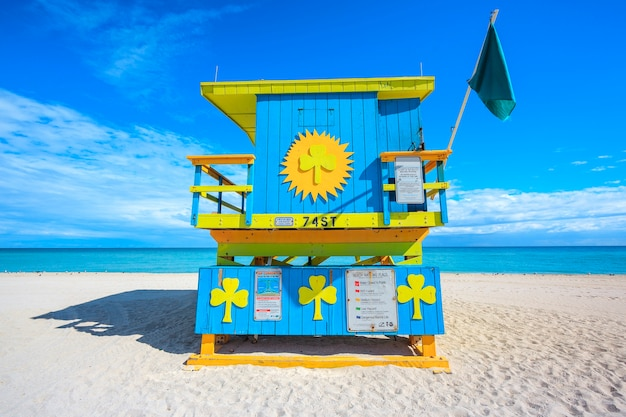 Miami beach, florida, famosa casa de salvavidas