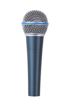 Micrófono aislado en blanco