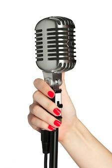 Micrófono de audio estilo retro