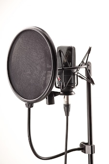 Micrófono en estación de radiodifusión