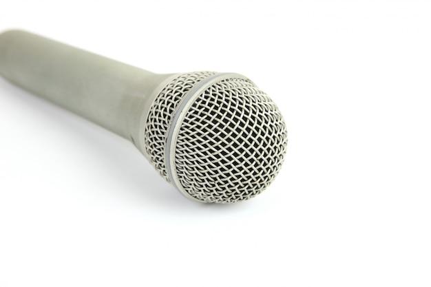 Micrófono de metal macro