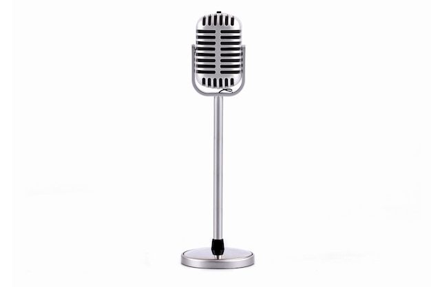 Micrófono retro aislado