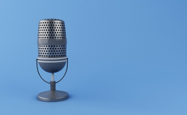 Micrófono vintage 3d