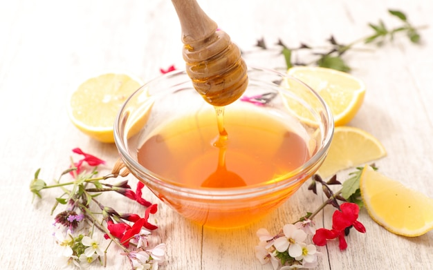 Miel con flores