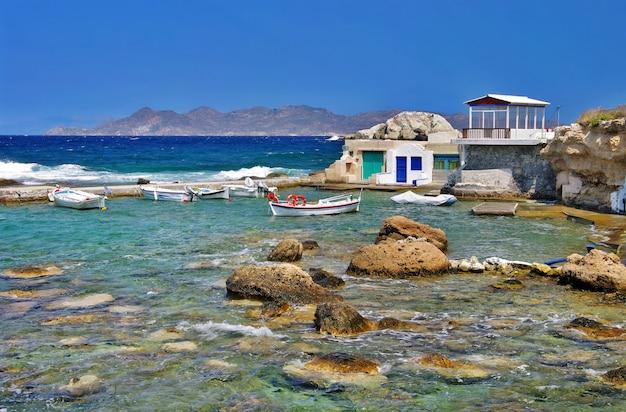 Milos - pueblo pesquero tradicional mandrakia, hermosas islas de grecia, cícladas