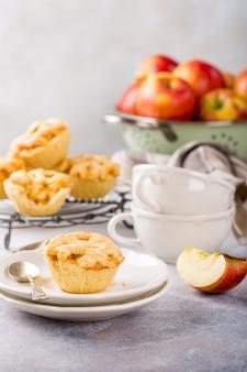 Mini tartas caseras de manzana