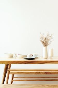 Minimalismo decoración café pastel