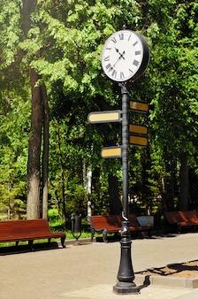 Mira en el poste en un parque