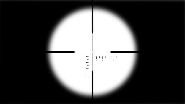 Mirada de francotirador clásico en forma de cruz