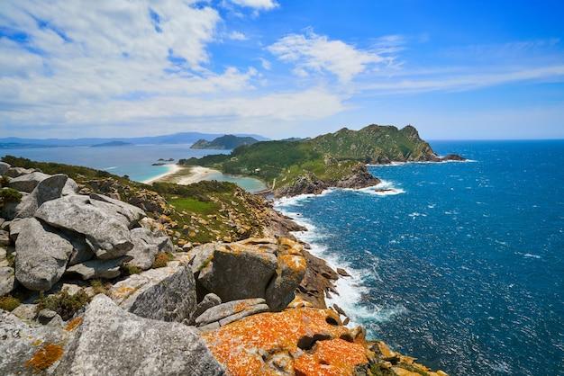 Mirador del alto do principe en las islas islas cies
