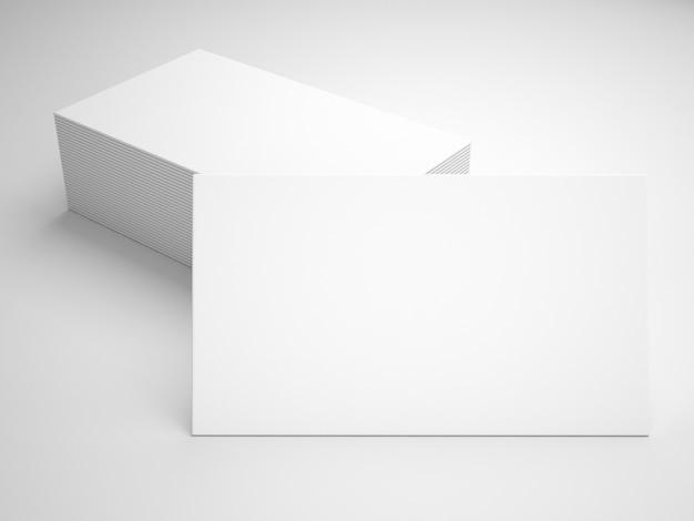 Mockup de presentación de tarjetas de visita blancas