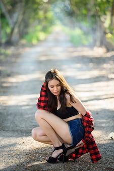 Modelo asiático de la muchacha del underware de asia