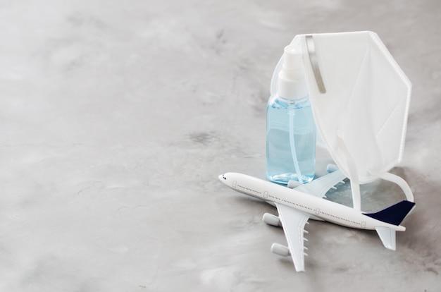 Modelo de avión, atomizador de gel y mascarilla