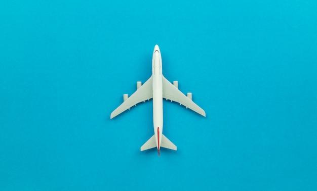 Modelo de avión de vista superior