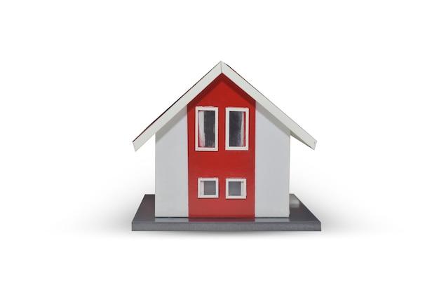 Modelo de casa en blanco