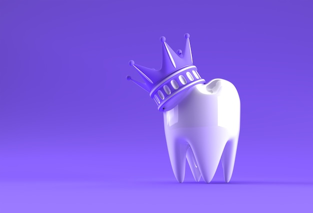 Modelo dental king de premolar 3d rendering.
