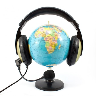 Modelo de entretenimiento latitud longitud de audio
