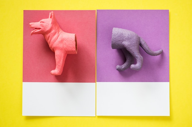 Modelo de miniatura de perro en miniatura de color