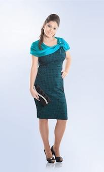 Modelo de mujer moderna a la imagen de una mujer de negocios.