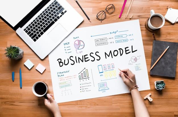 Modelo de negocio y conceptos de proyecto de planificación.