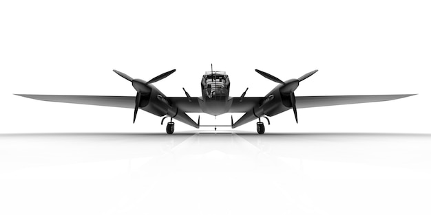 Modelo tridimensional del avión bombardero de la segunda guerra mundial.