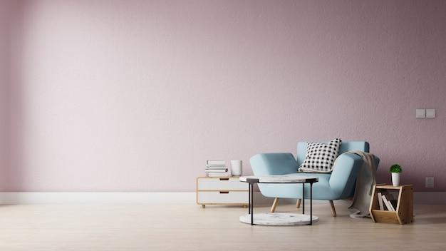 Moderna sala de estar con decoración colorida.