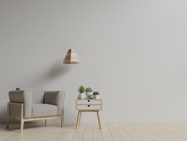 Moderna sala de estar con sillón.