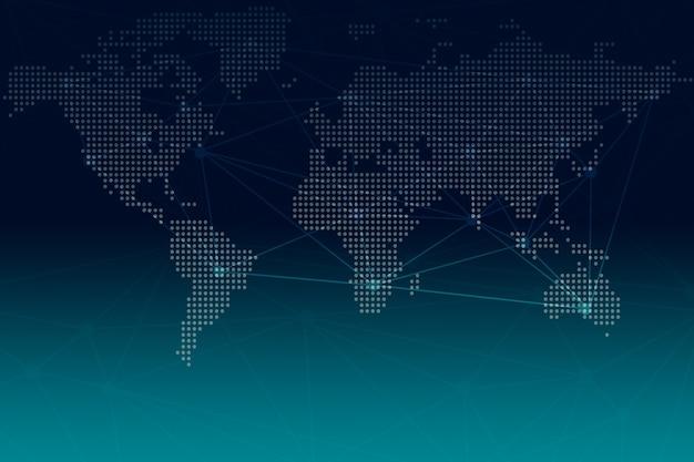 Modernizar el mundo digital, la red de globalización, la tecnología de conexión en línea de internet, la ilustración de fondo