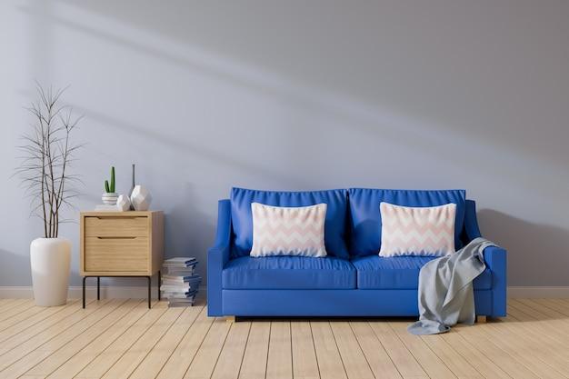 Moderno medio siglo e interior minimalista de salón.