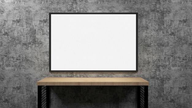 Moderno monitor de pantalla plana. / representación 3d