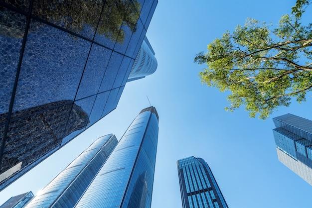 Modernos rascacielos en el distrito de negocios de guiyang, china.
