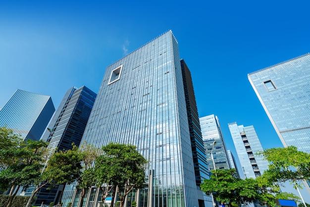 Modernos rascacielos en el distrito de negocios de xiamen, china.