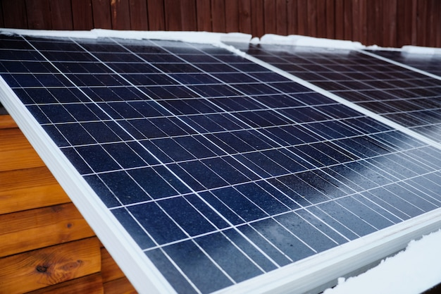 Módulo voltaico de panel de energía solar. sistema de células solares