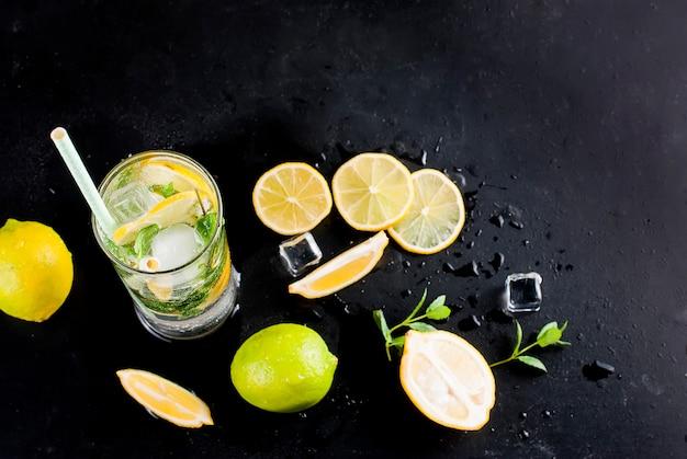Mojito cóctel ingenio limones, limas y menta