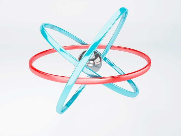 Molécula, átomo en el fondo blanco