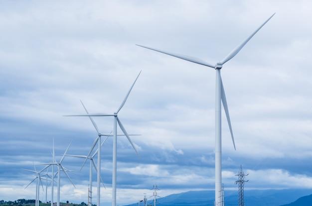 Molinos de viento energía limpia