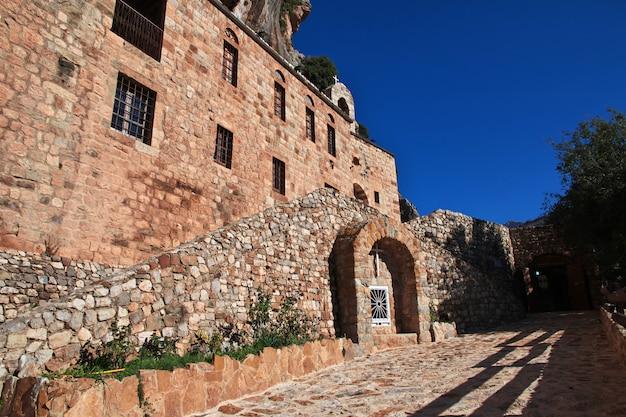 El monasterio en el valle de kadisha, líbano