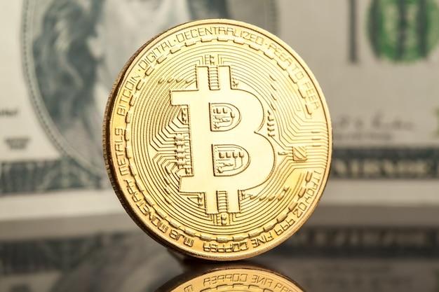Moneda criptográfica de minería bitcoin oro