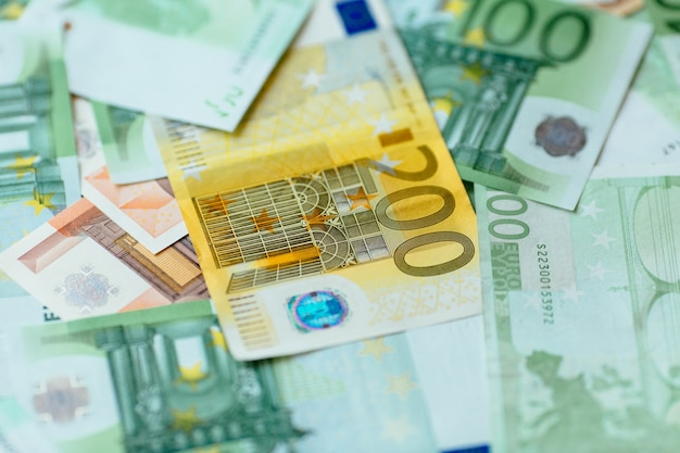 Moneda euro. primer euro efectivo antecedentes del euro bancnotes.