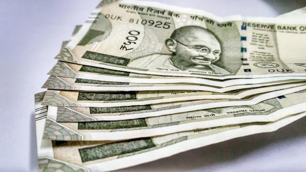 Moneda india de la colección de 500 rupias