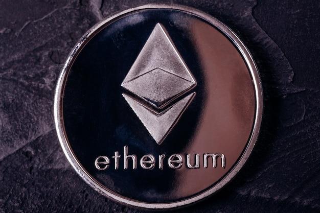 Moneda de la moneda crypto cerca del ethereum