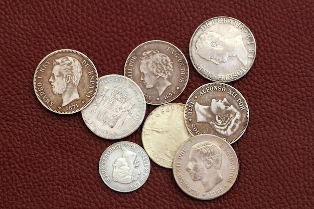 Monedas antiguas de españa de los siglos xviii y xix.